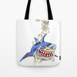 Halloween Skeleton Shark Tote Bag