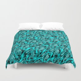 abstract pattern in metal Duvet Cover
