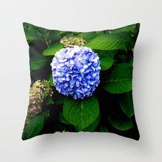 Blue Flower (Edited) Throw Pillow