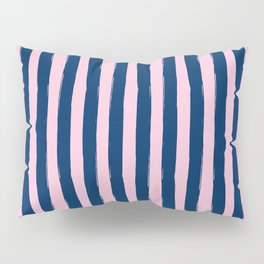 Blue and Pink Cabana Stripes Palm Beach Preppy Pillow Sham