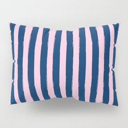 Blue and Pink Cabana Stripes Palm Beach Preppy Pillow Sham