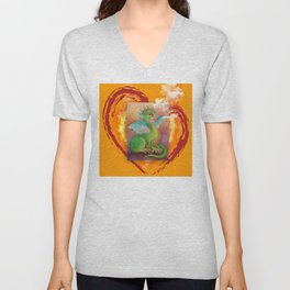 Heart of Baby Dragon Unisex V-Neck