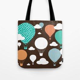 Hot air balloon chocolate Tote Bag