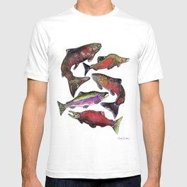 Salmon Fish Chart T-shirt