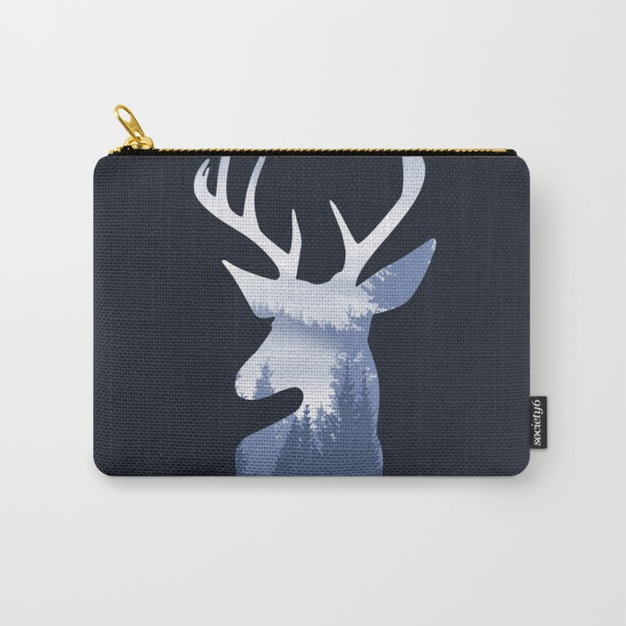 Deer Abstract Blue Landscape Design Carry-All Pouch