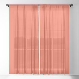 Flame | Pantone Fashion Color Spring : Summer 2017 | Solid Color | Sheer Curtain