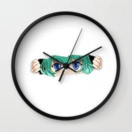 Japanese Manga Anime Face Gift Print Graphic Novel Cosplay Print Wall Clock