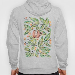 Happy Sloth – Tropical Green Rainforest Hoody