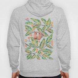 Happy Sloth – Tropical Green Rainforest Hoody
