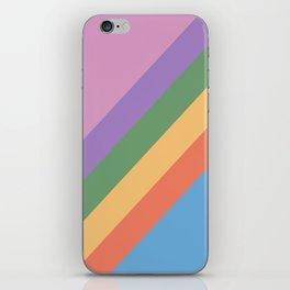 Retro Rainbow Stripes 105 iPhone Skin