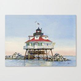 Thomas Point Light Canvas Print