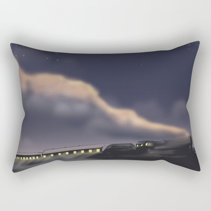 Night Train to Glasgow Rectangular Pillow