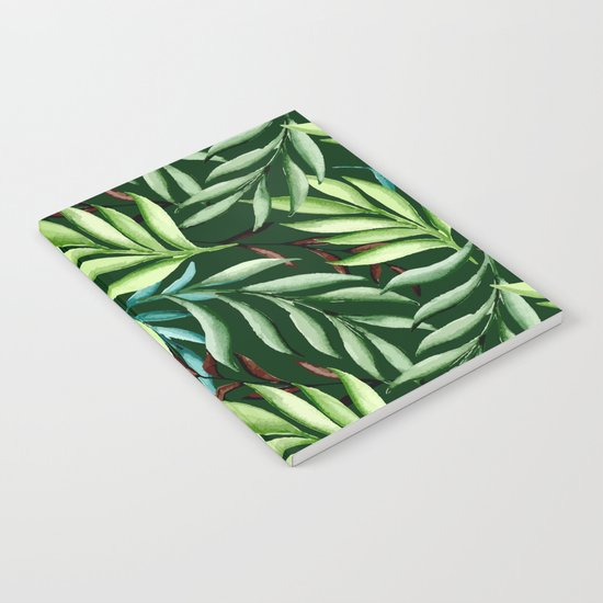 Leaf pattern. Watercolor Notebook