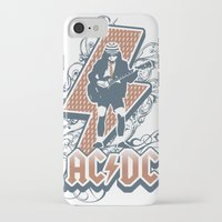acdc iPhone & iPod Cases featuring acdc angus young by aceofspades81
