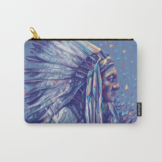 native american portrait-sitting bull Carry-All Pouch
