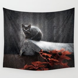 BLACK CAT II Wall Tapestry