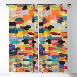 Multi-colored paint strokes Blackout Curtain