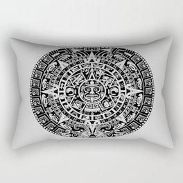 Mayan Calendar // Light Grey Rectangular Pillow