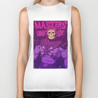 skeletor Biker Tanks featuring Masters of the Universe - Skeletor by Mike Wrobel