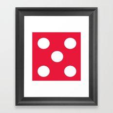 Dice 5 Framed Art Print