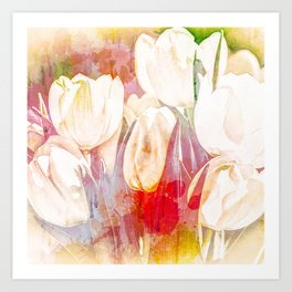 Tulip Fever Abstract Art Art Print