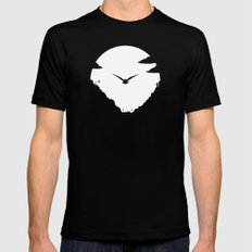 Moon Owl Black MEDIUM Mens Fitted Tee