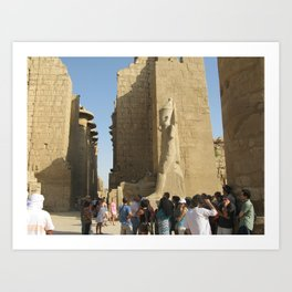 Temple of Karnak at Egypt, no. 5 Art Print