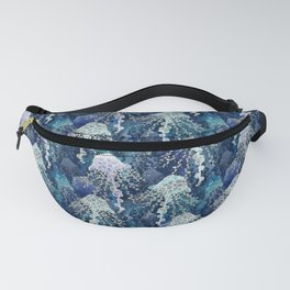 Jellyfish in deep blue Fanny Pack