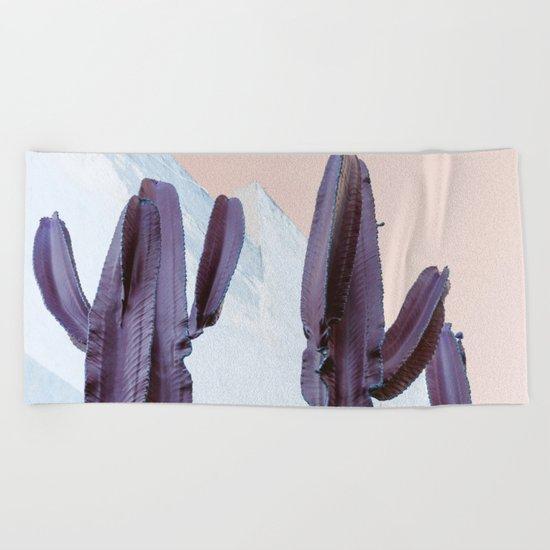 Pastel Cactus Beach Towel