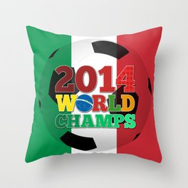 2014 World Champs Ball - Italy Throw Pillow