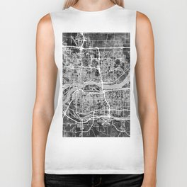 Quad Cities Street Map Biker Tank