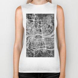 Quad Cities Street Map Biker Tank