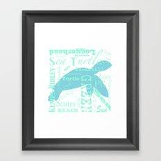 Abstract Sea Turtle Framed Art Print