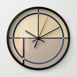 Toned Down - circle graphic ll Wall Clock