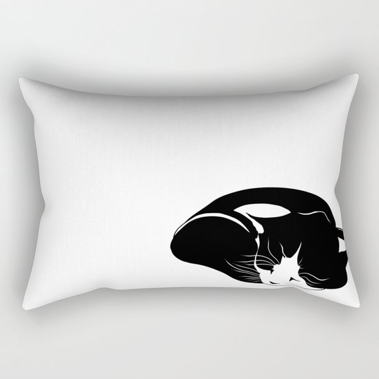 little kitten who sleeps peacefully Rectangular Pillow