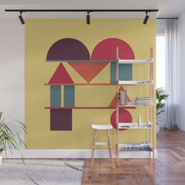Typography series #M Wall Mural