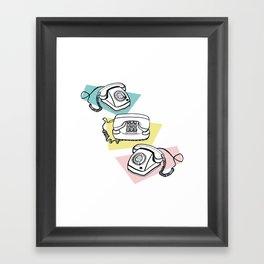 Retro phones Framed Art Print