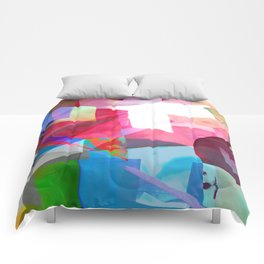 swissflag collage colorful Comforters