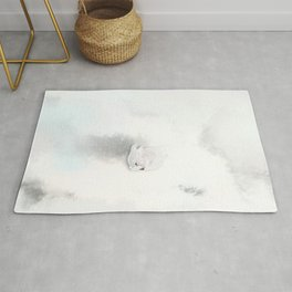 Rabbit In A Snowstorm Rug