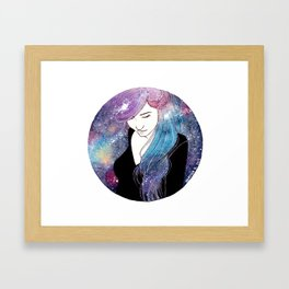 Galaxy girl Framed Art Print