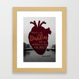 Dublin Heart Framed Art Print