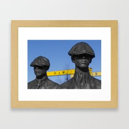 Yardmen statues at Harland and Wolff shipyard Framed Art Print