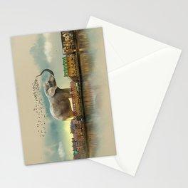 Travelling elephant Stationery Cards