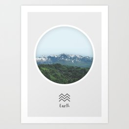 Earth Element, Circle Print Art Print