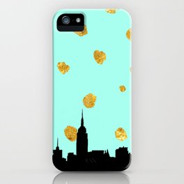 NYC Mint and Gold iPhone Case