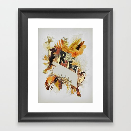 Freak! Framed Art Print