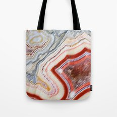 Marble Red Tote Bag