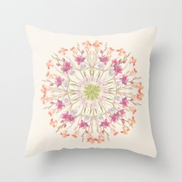 Floral endeavour- Mandala Throw Pillow