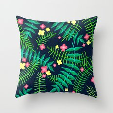 Natures Confetti Leaves  Throw Pillow