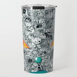 monster cat Travel Mug